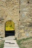堡垒在意大利市卡斯蒂廖恩菲奥伦蒂诺 图库摄影