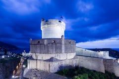堡垒在杜布罗夫尼克,克罗地亚 免版税图库摄影