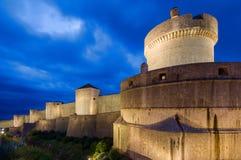 堡垒在杜布罗夫尼克,克罗地亚 库存照片