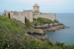 堡垒在盖帽Frehel的la拿铁在布里坦尼,法国 免版税库存图片