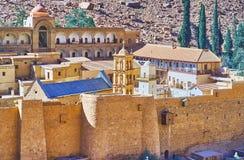 堡垒在西奈沙漠,埃及 库存照片