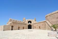 堡垒在阿尔梅里雅,西班牙,在一个晴天 库存照片