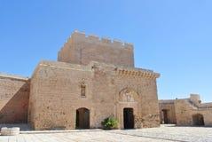 堡垒在阿尔梅里雅,西班牙,在一个晴天 免版税图库摄影