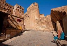堡垒在15世纪修造的Mehrangarh 库存图片