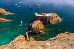 堡垒在Berlenga海岛-葡萄牙 免版税库存照片