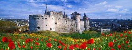 堡垒在Kamenetz波多利斯克 库存照片