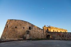 堡垒城堡St哥伦布峰在圣胡安 库存照片