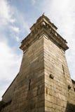 堡垒塔在里瓦达维亚,加利西亚,西班牙 库存图片