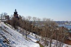 堡垒墙壁和塔 免版税库存照片