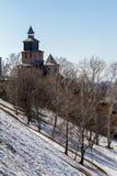 堡垒墙壁和塔 免版税库存图片