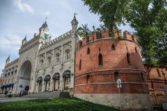 堡垒墙壁在Kitai-gorod在莫斯科 免版税库存照片