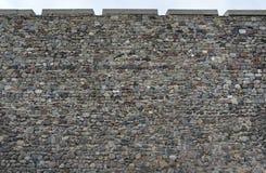 堡垒墙壁老石制品  图库摄影