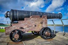 堡垒夏洛特在Lerwick的中心,舍德兰群岛,是一个五支持的火炮堡垒,与每个角落的本营 苏格兰,团结 免版税图库摄影
