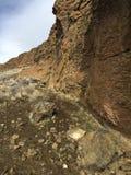 堡垒岩石在一个冬日 免版税库存照片