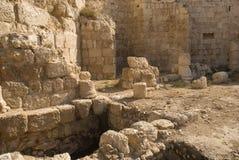 堡垒希律王,伟大, Herodium,巴勒斯坦的废墟 免版税图库摄影