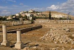堡垒希律王,伟大, Herodium,巴勒斯坦的废墟 免版税库存图片