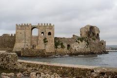 堡垒希腊methoni 免版税库存照片