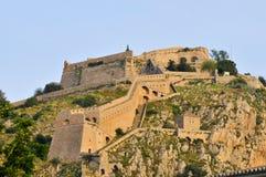 堡垒希腊nafplio palamidi 免版税库存照片