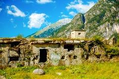 堡垒废墟在山的世界大战2 图库摄影