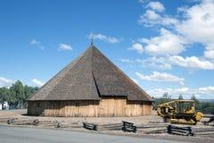 堡垒弯曲处博物馆圆的谷仓 免版税库存照片