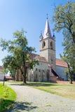 堡垒教会, Targu-Mures中世纪城堡 图库摄影