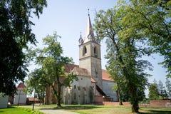 堡垒教会, Targu-Mures中世纪城堡 库存照片