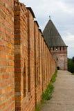 堡垒斯摩棱斯克墙壁 库存照片