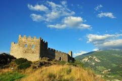 堡垒日落墙壁 库存图片
