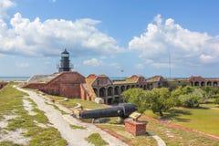 堡垒杰斐逊灯塔 免版税库存照片