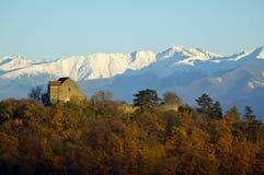 堡垒横向transylvania 免版税图库摄影