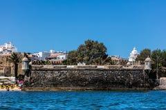 堡垒波城da Bandeira在拉各斯,葡萄牙 图库摄影