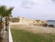 堡垒海边 库存图片