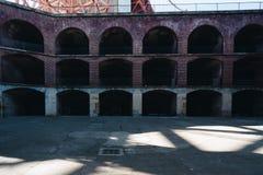 堡垒点金门大桥大厦 库存照片