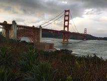 堡垒点,被紧贴在金门大桥的一个详尽的看法下 免版税库存照片