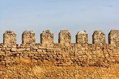 堡垒的墙壁 免版税库存图片