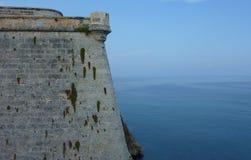 堡垒的墙壁 库存图片