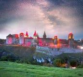 堡垒的夜光 库存图片