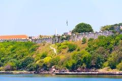 堡垒的看法,哈瓦那,古巴 复制文本的空间 免版税库存照片