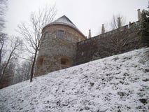 堡垒的部分在卢布尔雅那 库存图片