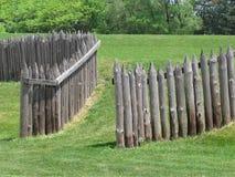 堡垒老木栅木头 库存图片