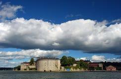 堡垒老waxholm 免版税库存图片