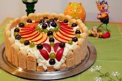堡垒蛋糕 图库摄影