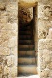 堡垒被破坏的步骤 库存照片