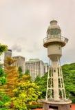 堡垒装于罐中的灯塔在新加坡 免版税图库摄影