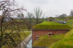 堡垒解决Grodzisko,一个小组设防从19世纪 库存图片
