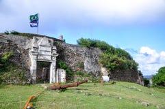 堡垒诺萨S.ra dos Remedios,费尔南多・迪诺罗尼亚群岛 免版税库存图片