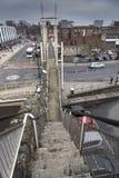 堡垒跨步塔和桥梁在路在南安普敦耶路撒冷旧城墙壁上 库存照片