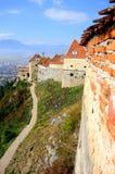 堡垒路径rasnov罗马尼亚 库存图片