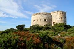 堡垒阿扎镇黑山 库存图片