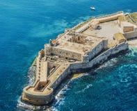 堡垒马尼亚切在西勒鸠斯西西里岛 免版税库存照片